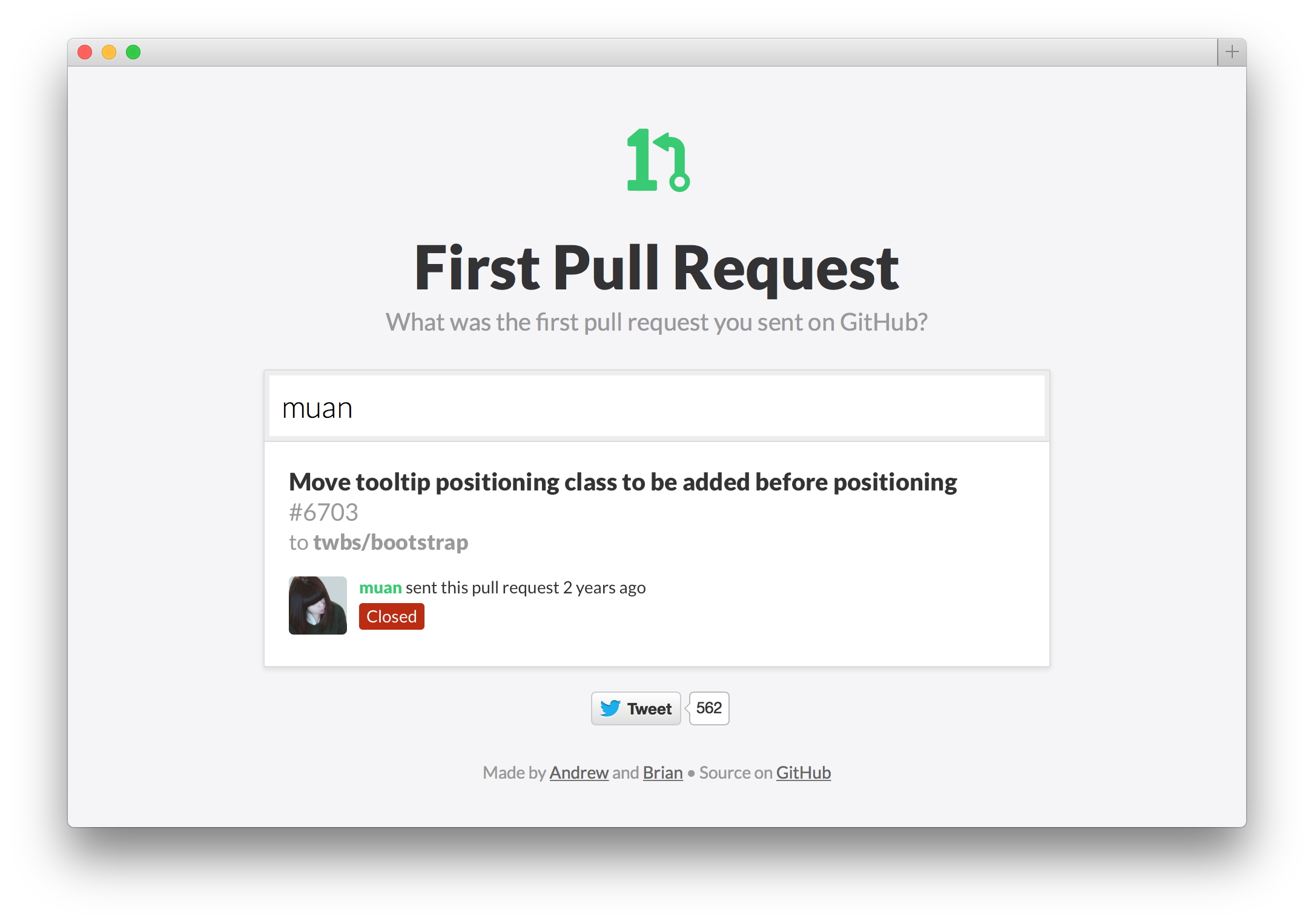 My first pull request as found on http://firstpr.me/#muan
